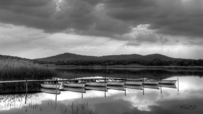 Tihanyi Belső-tó vihar előtt